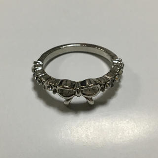 海外 リボン ラインストーン リング 14号(リング(指輪))