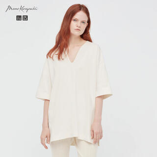 ユニクロ(UNIQLO)のUNIQLO Mame Kurogouchi コットンオーバーサイズT(Tシャツ(半袖/袖なし))