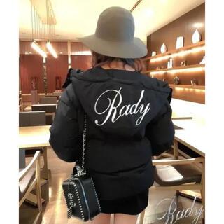 Rady - Rady バイカラー フードファイバーダウン ロゴダウン 新品 Sサイズ 黒