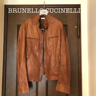 BRUNELLO CUCINELLI - BRUNELLO CUCINELLIブルネロクチネリ  レザージャケット