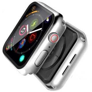 【A66】Apple Watch 画面保護ケース 耐衝撃 42mm(シルバー)(その他)