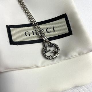 Gucci - 【極美品】 グッチ インターロッキングG  ネックレス シルバー 芸能人着用