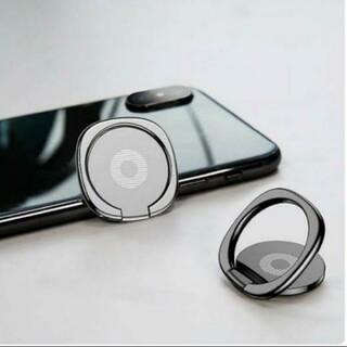 薄型 スマホリング バンカー iPhone Android スタンド ブラック