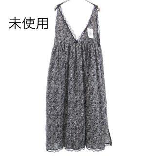 Daisy - 未使用 デイジー 花柄 キャミロングワンピース F 黒×白 DAIS-Y