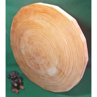 【訳あり特価】★檜の輪切り多角形赤身まな板(オイルフィニッシュ済)おまけ付き♪