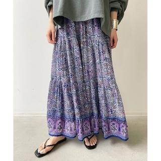 L'Appartement DEUXIEME CLASSE - 新品 アパルトモン【ブルー ボヘム】Cotton Tiered Skirt