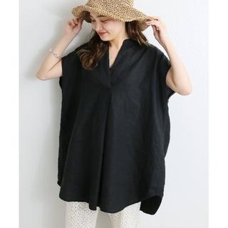 IENA - 新品 21SS イエナ リネンノースリーブスキッパーシャツ ブラック