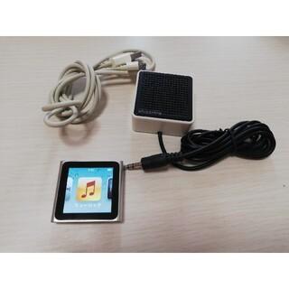 アイポッド(iPod)のiPod nano 第6世代 シルバー(ポータブルプレーヤー)