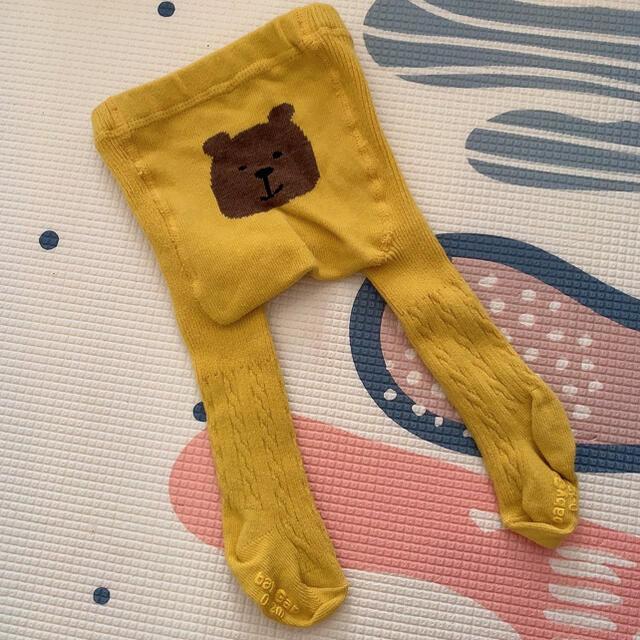 babyGAP(ベビーギャップ)の新品未使用品⋆クマちゃんタイツ キッズ/ベビー/マタニティのこども用ファッション小物(靴下/タイツ)の商品写真