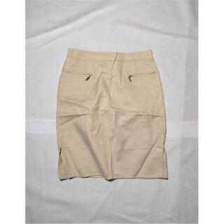 ハロッズ(Harrods)のHarrods ハロッズ リネンブレンドスカート サイズ2 tu072015(ひざ丈スカート)