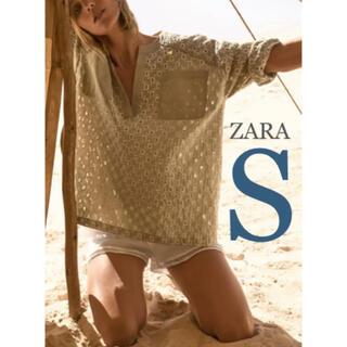 ZARA - 【新品・未使用】ZARA カットワーク刺繍入り ブラウス S