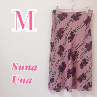 スーナウーナ(SunaUna)のSunaUna スーナウーナ シフォンタイトスカート 膝丈スカート エレガント(ひざ丈スカート)