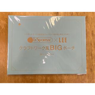 LeSportsac - LEE 8月号 付録 レスポートサック クラフトワーク風BIGポーチ☆新品未開封