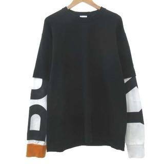 バーバリー(BURBERRY)のバーバリー 20AW フェイクレイヤード Tシャツ 長袖 国内正規 M 黒(Tシャツ/カットソー(七分/長袖))