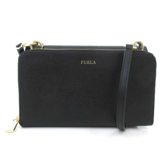 Furla(フルラ)のフルラ RIVA クロスボディ 財布 ウォレットバッグ ショルダ- 3WAY 黒 レディースのバッグ(ショルダーバッグ)の商品写真