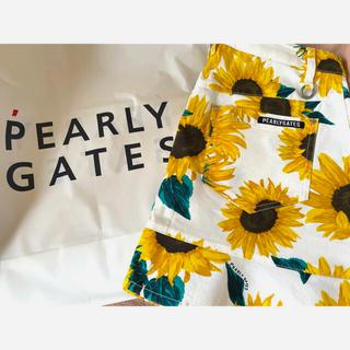 PEARLY GATES - パーリーゲイツ レディースゴルフウェア スカート 新品未使用 ひまわり 夏