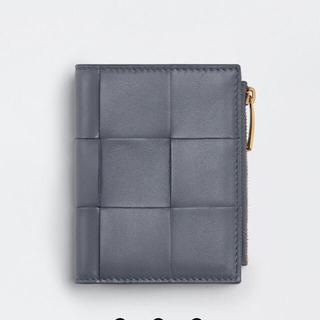 Bottega Veneta - ボッテガヴェネタ ミニ財布 二つ折りウォレット グレー 新品