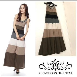 GRACE CONTINENTAL - 美品♡ボーダーサロペット