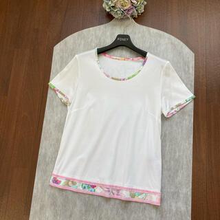 LEONARD - 美品 LEONARD レオナール コットンストレッチ トップス Tシャツ