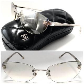 シャネル(CHANEL)のシャネル サイドココ クリアー×シルバー サングラス 上品♡4069 メガネでも(サングラス/メガネ)