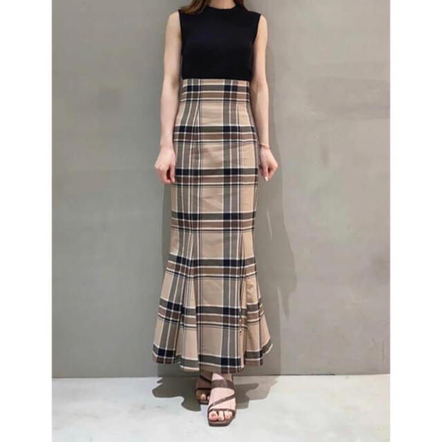 snidel(スナイデル)のsnidel スナイデル ハイウエストタイトヘムフレアチェックスカート サイズ0 レディースのスカート(ロングスカート)の商品写真