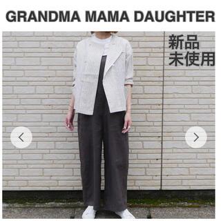 今季 新品未使用 グランママ シャツジャケット リネンジャケット 羽織り(ノーカラージャケット)