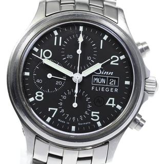 シン(SINN)のジン フリーガー クロノグラフ デイデイト 358 メンズ 【中古】(腕時計(アナログ))