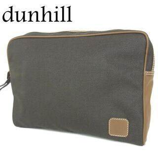 ダンヒル(Dunhill)のダンヒル dunhill ロゴ PVC×レザー クラッチ セカンド バッグ(その他)