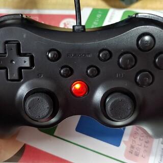 エレコム(ELECOM)のエレコム USBコントローラー ゲームパッド 12ボタン 連射機能付 ブラック (PC周辺機器)