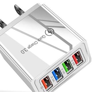 新品 USB AC充電器 USB-A-4ポート コンセント ホワイトiphone