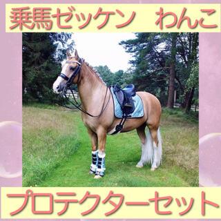 乗馬 ゼッケン わんこ プロテクター 乗馬用品 馬術用品 乗馬用具 馬術用具(その他)