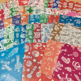 昭和レトロ 駄菓子屋サラサ千代紙舞妓さん和柄 折り紙おりがみ千代紙交換カコちゃん(印刷物)