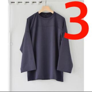 COMOLI - COMOLI 21AW フットボールTシャツ フェードネイビー サイズ3新品