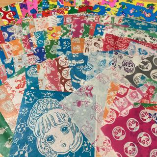 昭和レトロ 駄菓子屋千代紙120枚② サラサ折り紙おりがみ千代紙交換カコちゃん(印刷物)