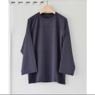 COMOLI - COMOLI 21AW フットボールTシャツ fade navy サイズ2