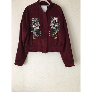 mame - Mame Kurogouchi のフラワー刺繍ブルゾン(ジャケット)