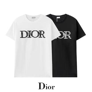 ディオール(Dior)の2枚10000円送料込み DIOR#070502 刺繍Tシャツ 半袖 黒白 夏(その他)