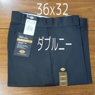 ディッキーズ(Dickies)の新品 36x32 BK ダブルニー ワークパンツ ブラック(ワークパンツ/カーゴパンツ)