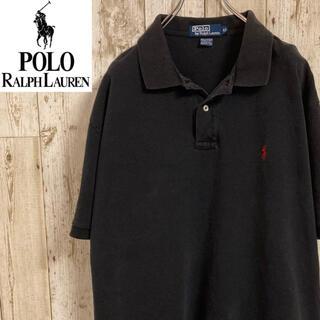 POLO RALPH LAUREN - ポロラルフローレン 半袖ポロシャツ ワンポイント刺繍ロゴ メンズ 古着