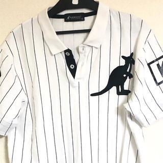 カンゴール(KANGOL)のカンゴール KANGOL ポロシャツ メンズ ビッグロゴ ホワイト 半袖 (ポロシャツ)
