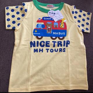 mikihouse - ミキハウス プッチー君 バス 乗り物 Tシャツ 新品タグ付き 100 男の子