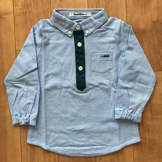 ファミリア(familiar)のファミリア 長袖 シャツ 90 ブルー(ブラウス)
