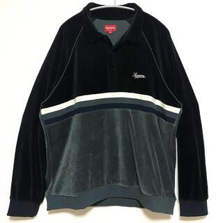 Supreme - Supreme 19ss ベロア ラガー ポロシャツ XL
