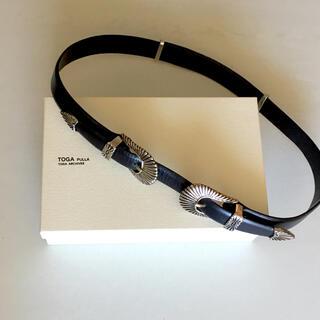 TOGA - TOGA PULLA ダブルバックル メタル ベルト