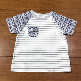 センスオブワンダー(sense of wonder)のセンスオブワンダー フォックス リバティ柄 Tシャツ(Tシャツ/カットソー)