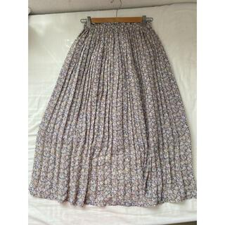 オリーブデオリーブ(OLIVEdesOLIVE)のオリーブデオリーブ 花柄プリーツスカート(ロングスカート)