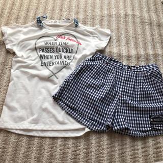 女の子 Tシャツ ショートパンツセット 140