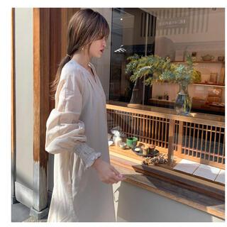 TODAYFUL - NUEbyAS cuff design organic cotton dress