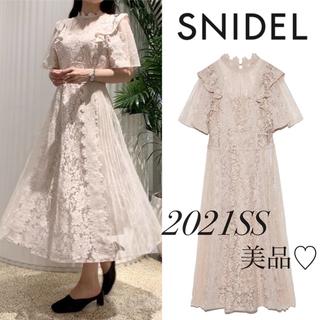 snidel - 【美品】2021SS 新作 スナイデル レースコンビオケージョンワンピース