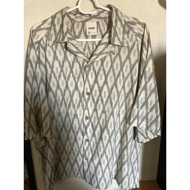 RANTIKI(乱痴気)(ランチキ)のBadhiya Open collar ss shirts - ikat  メンズのトップス(シャツ)の商品写真